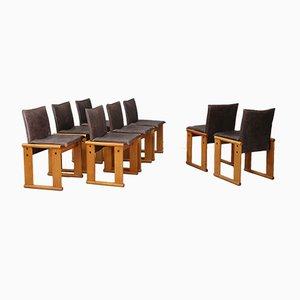 Esszimmerstühle von Tobia & Afra Scarpa für Molteni, 1972, 8er Set