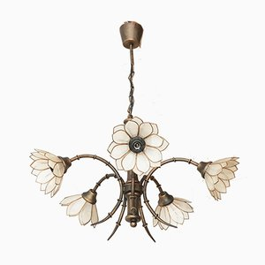 Vintage French Steel Ceiling Lamp, 1970s