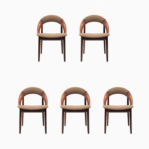 Danish Teak Dining Chairs by Arne Hovmand-Olsen, 1960s, Set of 5