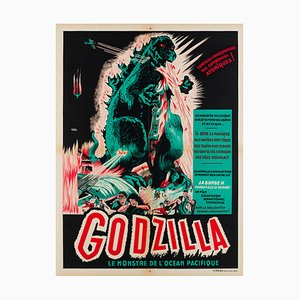 Godzilla Film Movie Poster by A. Poucel, 1950s