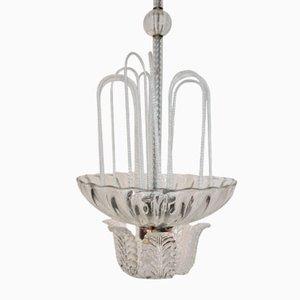 Deckenlampe aus Muranoglas von Ercole Barovier für Barovier & Toso, 1940er