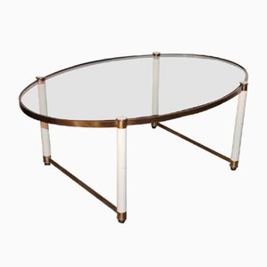 Vintage Glass Coffee Table from Maison Baguès