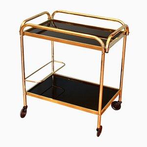 French Art Deco Brass Bar Cart, 1940s