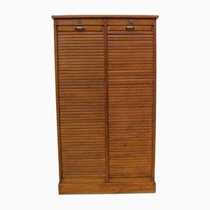 Industrial Oak Cabinet, 1940s
