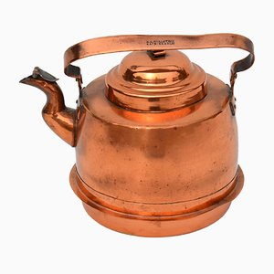 Antique Copper Teapot Kettle from B.K.Hollstein Katrineholm