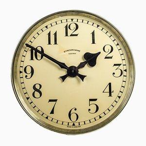Orologio grande in ottone di Synchronome, anni '30