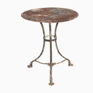 Tavolino antico in ferro battuto