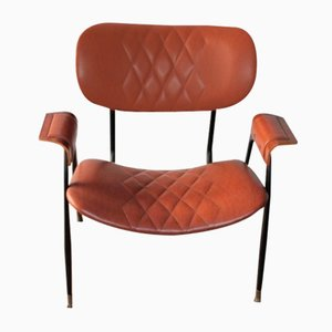 Leather Armchair by Gastone Rinaldi for Rima, 1960s