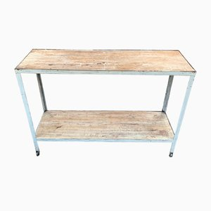 Antique Industrial Console Table