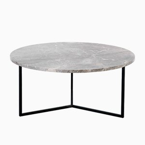 Table Basse Ovale Grise par Un'common