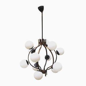 Lámpara de araña italiana de Stilnovo, años 50