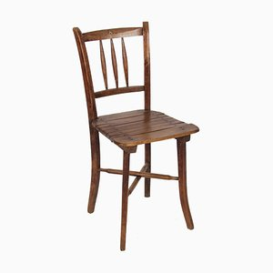 Antique French Beech Wood Side Chair, 1900s