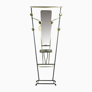 Appendiabiti con specchio e ganci, anni '60