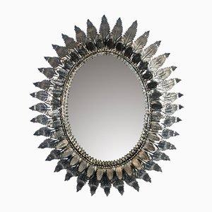 Spiegel mit Eisenrahmen, 1950er