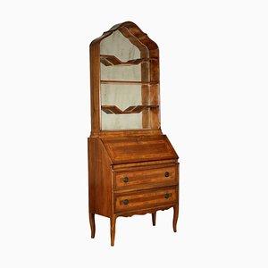 Italian Maple, Olive, and Walnut Revival Bookcase, 1950s