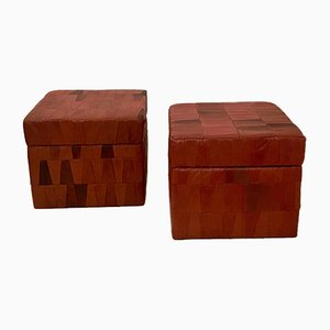 Leather Ottomans from de Sede, 1970s, Set of 2