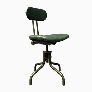 Sedia da scrivania verde scura, anni '50