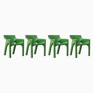 Esszimmerstühle von Vico Magistretti für Artemide, 1970er, 4er Set