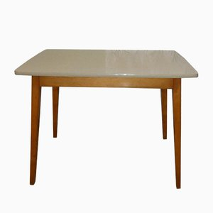 Mid-Century Wood & Formica Dining Table