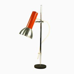 Tischlampe mit orangefarbenem Element von Doria Leuchten, 1970er