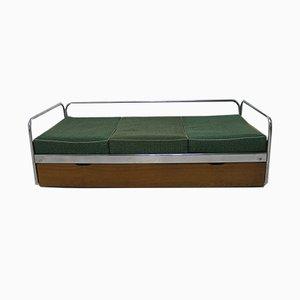 Tagesbett mit verchromten Elementen von Kovona, 1950er