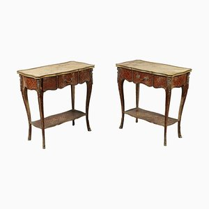 Antique French Rosewood Side Tables, Set of 2