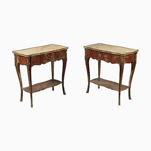 Tavolini antichi in palissandro, Francia, set di 2