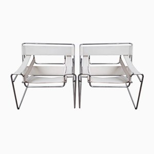 Wassily Lounge Chairs by Marcel Breuer for Alivar, 1980s, Set of 2