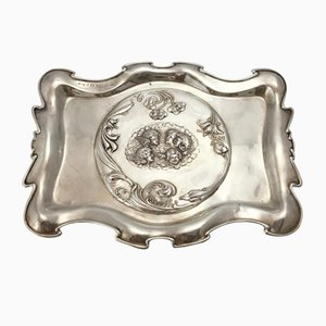 English Sterling Silver Tray by W. G. Keight, 1904