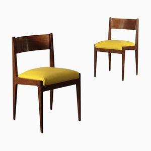 Italienische Beistellstühle mit Bezügen aus Kunstleder, 1960er, 2er Set