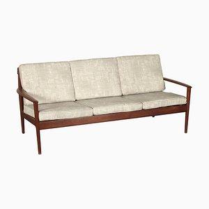 Dänisches Sofa mit Gestell aus Teak von Grete Jalk für Poul Jeppesens Møbelfabrik, 1950er
