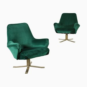 Italian Swivel Armchairs by Giulio Moscatelli for Formanova, 1960s, Set of 2