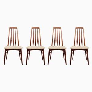 Esszimmerstühle aus Palisander von Niels Koefoed für Koefoeds Møbelfabrik, 1960er, 4er Set