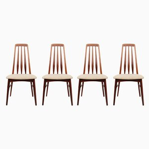 Rosewood Dining Chairs by Niels Koefoed for Koefoeds Møbelfabrik, 1960s, Set of 4
