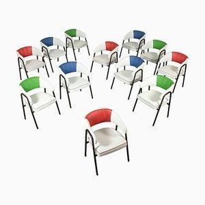 Italienische Beistellstühle mit Kunstlederbezügen, 1960er, 12er Set