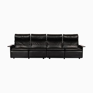 Mid-Century Black Leather 620 Sofa by Dieter Rams for Vitsœ