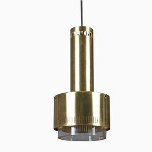 Lampada da soffitto in ottone di Kay Korbing per Lyfa, Danimarca, anni '60