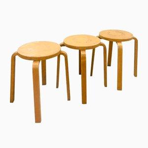 Taburetes de Alvar Aalto para Artek, años 60. Juego de 3