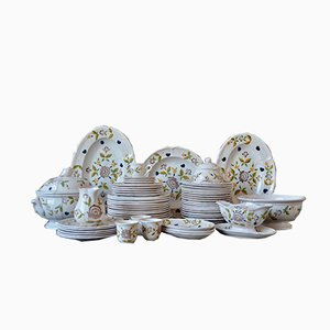 Dinnerware Set from Faïencerie de Pornic, 1950s