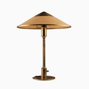 Lámpara de mesa de latón y papel de Niels Rasmussen Thykier para Fog & Mørup, años 50
