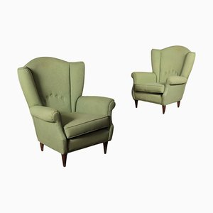 Bergère Armchairs, 1950s, Set of 2