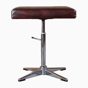 Leather Pianist Stool, 1960s