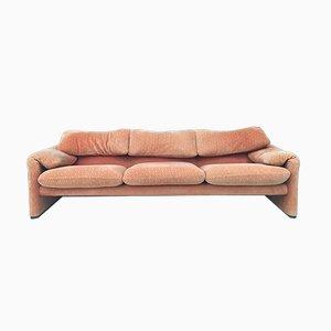 Vintage 3-Sitzer Sofa von Vico Magistretti für Cassina