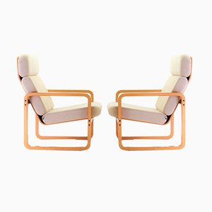 Bentwood Lounge Chairs from Mondial, 1980s, Set of 2