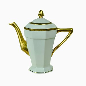 Brocca per il caffè in porcellana di Limoges, anni '50