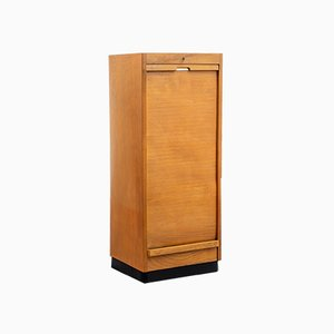 Beech Roll Front Cabinet, 1950s