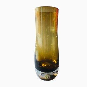 Vaso in vetro ambrato di Aseda, anni '60