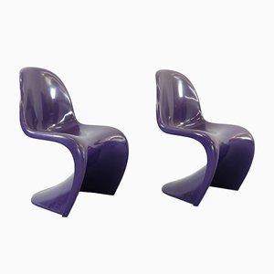 Lila Stühle von Verner Panton für Herman Miller, 1971, 2er Set