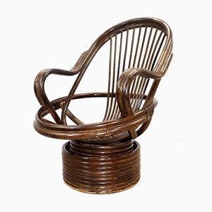 Italienischer Mid-Century Beistellstuhl aus Bambus