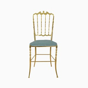 Mid-Century Italian Brass Side Chair, 1960s